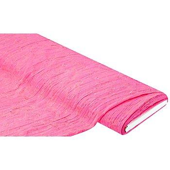 Crinkle-Blusenstoff 'Blumen', pink