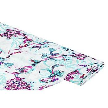 Viskose-Blusenstoff – Javanaise 'Blumen', weiß-color