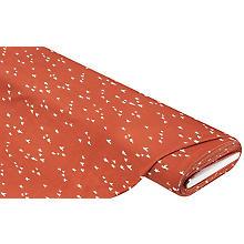 Tissu jersey en coton 'oiseaux', terre cuite/blanc délavé