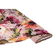 Tissu chiffon 'fleurs', rose multicolore
