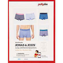 pattydoo Schnitt 'Boxershorts Jonas & John'