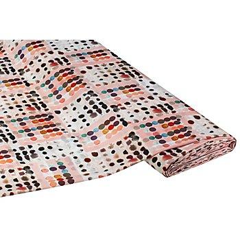 Blusen-Satin 'Tupfen', rosé-color