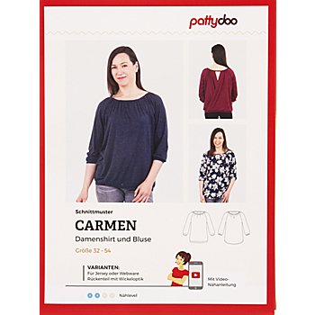 pattydoo Schnitt 'Damenshirt & Bluse Carmen'