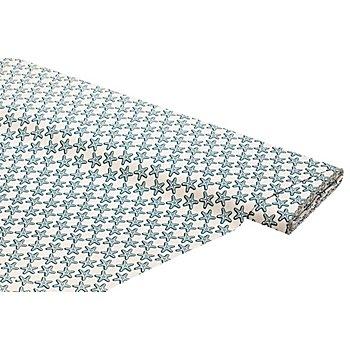 Tissu coton 'étoiles de mer', blanc multicolore