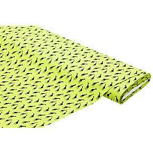 Baumwollstoff 'Giraffe', hellgrün/schwarz