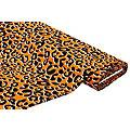 "Tissu crêpe extensible / tissu scuba ""léopard"", orange multicolore"