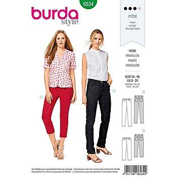 burda Patron 6534 'pantalon jeans'