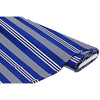 Elastik-Crêpe / Scuba 'Streifen', blau/weiß