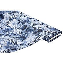 Elastischer Crêpe 'Blätter', blau-color