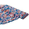 "Viskose-Blusenstoff – Javanaise ""Blumenranken"", blau-color"