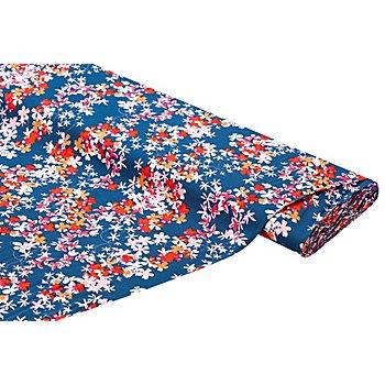Viskose-Blusenstoff – Javanaise 'Blumenranken', blau-color
