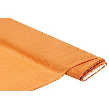 Tissu crêpe 'pois 3D dorés', abricot/doré