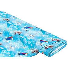 Tissu jersey en coton 'Frozen' avec de l'élasthanne, bleu multicolore