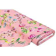 Tissu jersey en coton & modal 'fleurs', rose multicolore