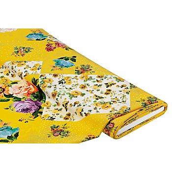 Chiffon 'Blumenspiel', gelb-color