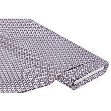 Tissu coton extensible, gris/rose