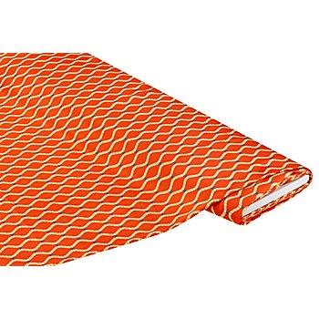 Blusen-Satin 'Grafisch', orange-color