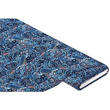 Viskose-Blusenstoff - Javanaise 'Paisley', blau-color
