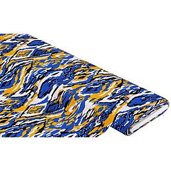 Viskose-Blusenstoff - Javanaise 'Camouflage', bunt