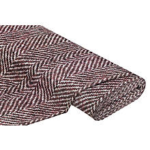 Tissu sweat-shirt / French Terry 'motif zig-zag', rouge multicolore
