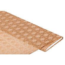 Tissu dentelle 'fleurs', beige