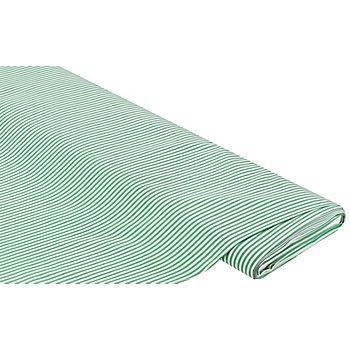 Tissu coton pour blouses 'rayures', vert/blanc