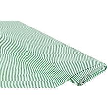 Elastischer Baumwoll-Blusenstoff 'Streifen', grün/weiss