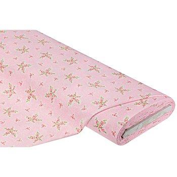 Flanell 'Blümchen', rosa-color