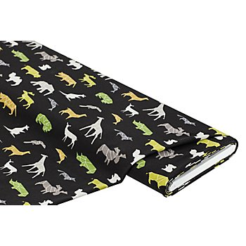 Baumwolljersey 'Wild Animals' mit Elasthan, schwarz-color