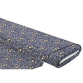 Baumwolljersey 'Leopard' mit Elasthan, grau-color