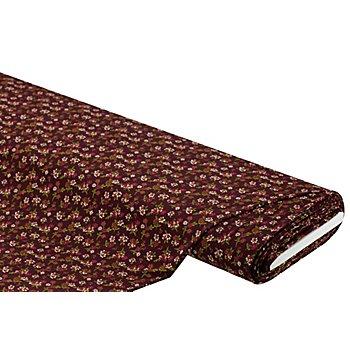 Viskose-Jersey 'Blümchen', bordeaux-color