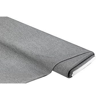 Elastik-Jersey 'Feine Streifen' mit Elasthan, grau