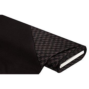 Romanit-Jersey 'Karo', schwarz/dunkelgrau