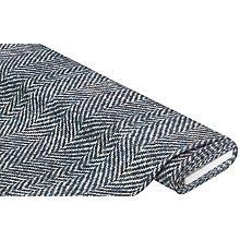 Tissu sweat-shirt / French Terry 'zig-zag', bleu multicolore