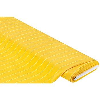Tissu crêpe 'lettres', jaune multicolore