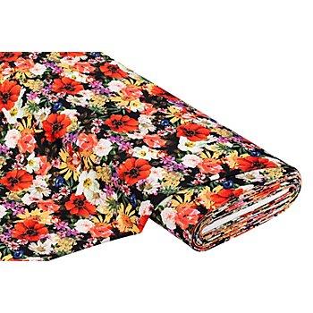 Feinstrick-Jersey 'Blumen', bunt