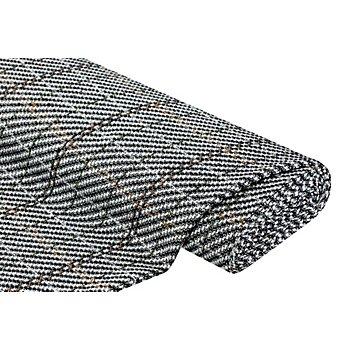 Woll-Tweed, natur/schwarz