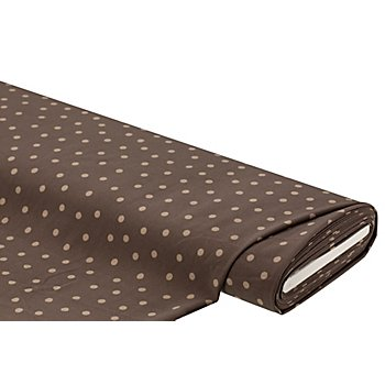 Tissu crêpe extensible 'pois', taupe multicolore