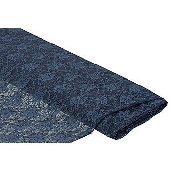 Tissu dentelle, bleu