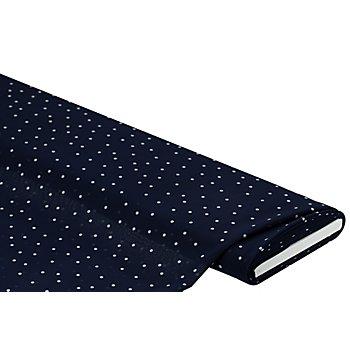 Chiffon 'Punkte', dunkelblau/weiß