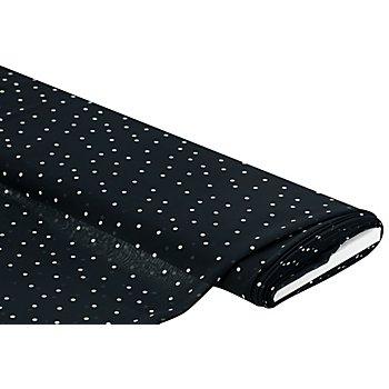 Chiffon 'Punkte', schwarz mit Grünschimmer/weiß