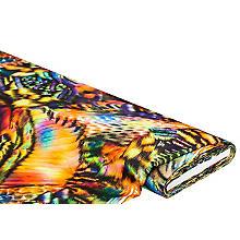 Tissu satin 'motif tropical', multicolore