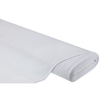 Tissu jersey à côtes, blanc