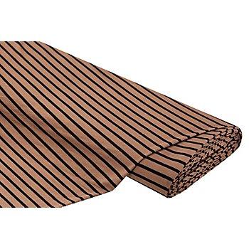 Slinky-Jersey 'Streifen', hellbraun/schwarz
