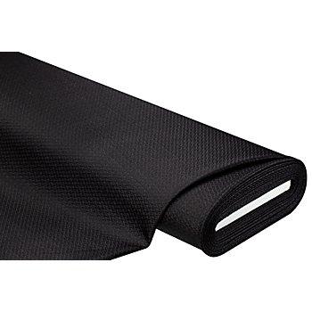 Tissu extensible structuré, noir