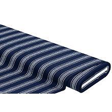 Baumwoll-Stretch 'Streifen', marine/weiss