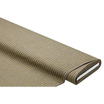 Tissu coton 'rayures', kaki/blanc