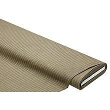 Baumwollstoff 'Streifen', khaki/weiss