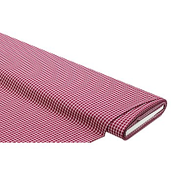 Blusenstoff 'Karomuster', rot/weiß