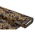 """Tissu pour manteaux """"camouflage"""", gris/ocre"""
